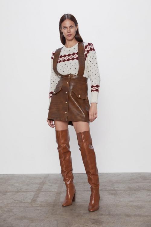 Zara - Mini jupe effet cuir