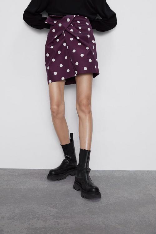 Zara - Mini-jupe en tafta