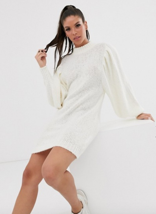 PrettyLittleThing - Robe pull à manches volumineuses