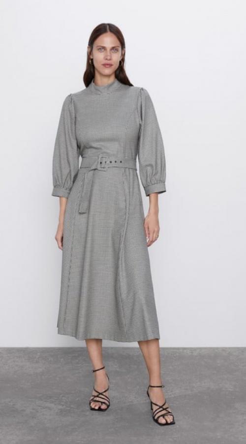 Zara - Robe pied-de-poule
