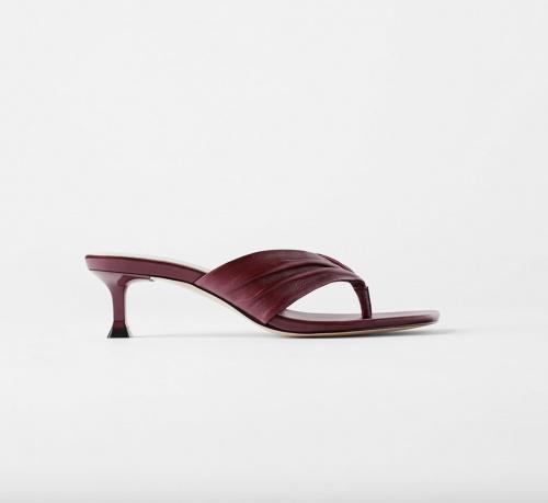 Zara - Sandales à talons simili cuir