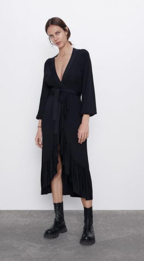 Zara - Robe en maille à volants