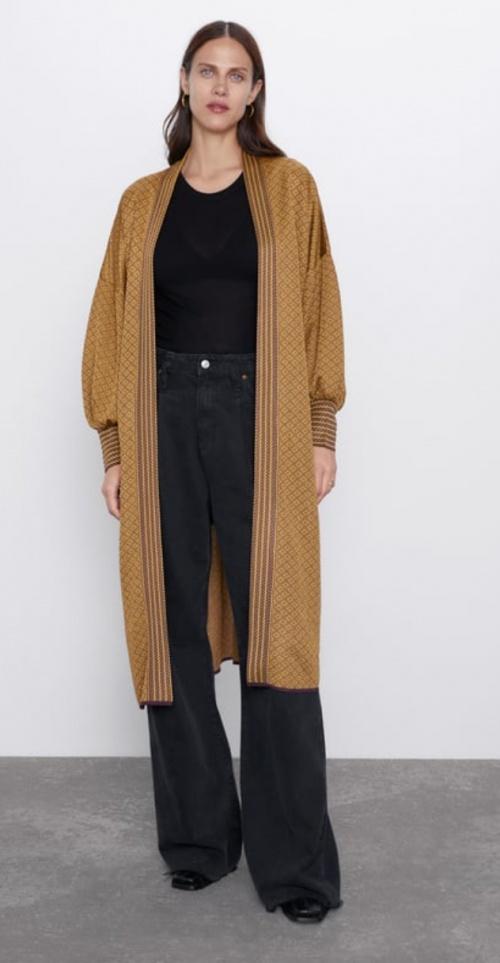Zara - Veste en maille jacquard