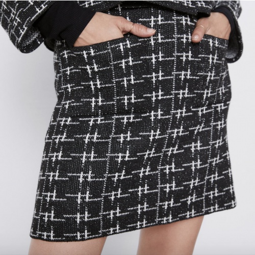Zara - Jupe en maille fil métallisé