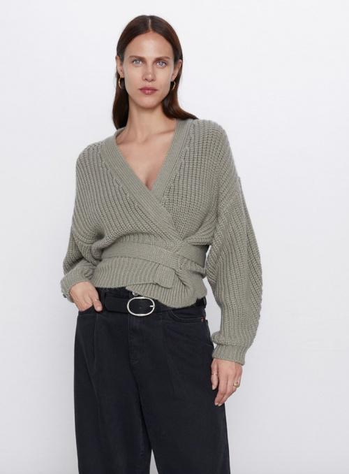 Zara - Veste courte avec ceinture