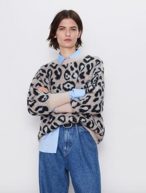 Zara - Pull léopard