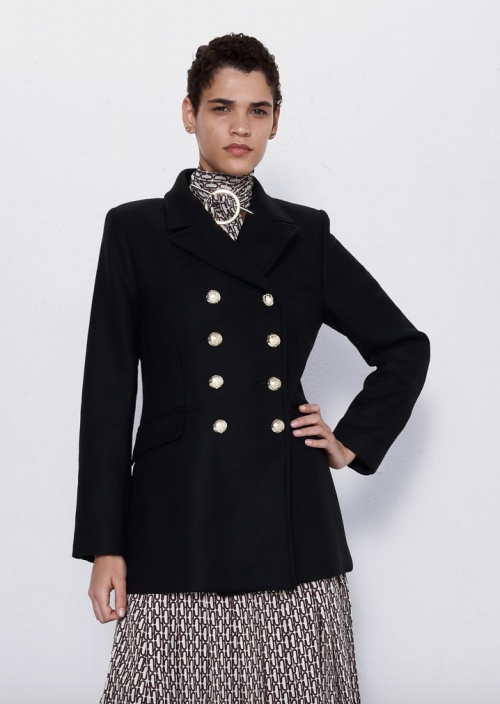 Zara - Manteau court à boutons