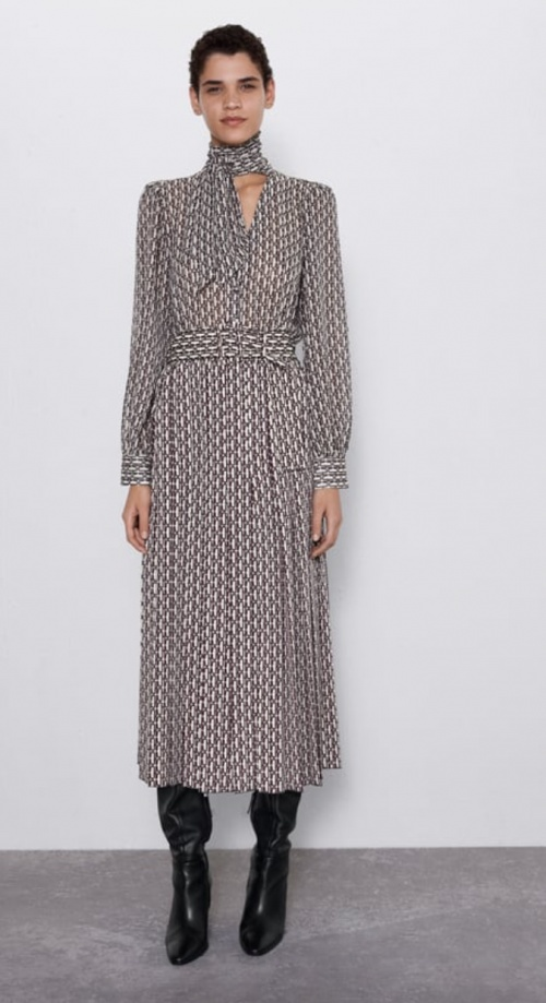 Zara - Robe plissée à imprimé
