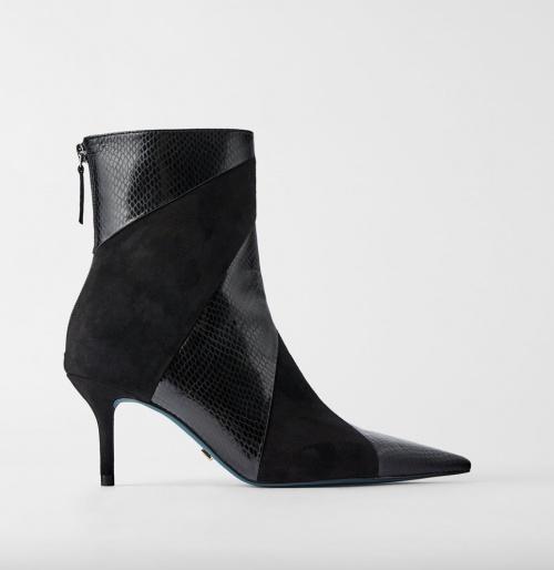 Zara - Bottines patchwork simili cuir