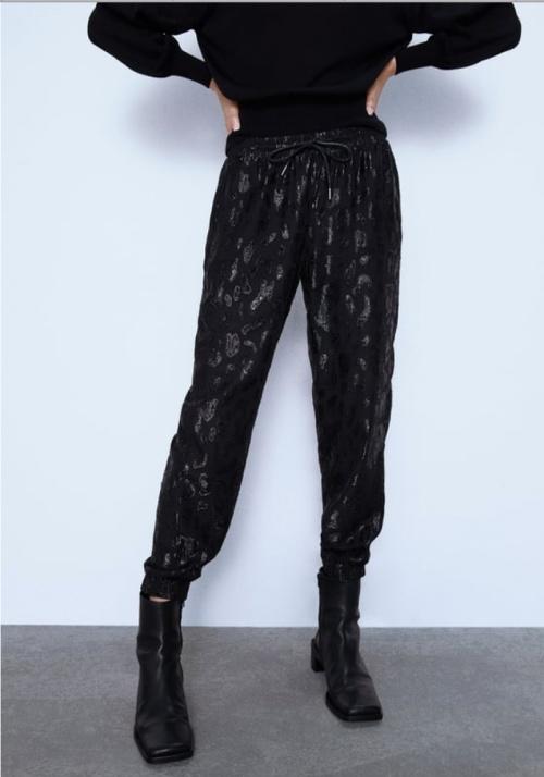 Zara - Pantalon de jogging effet satiné