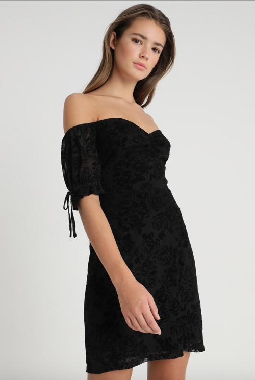 Fashion Union - Robe noire dentelle