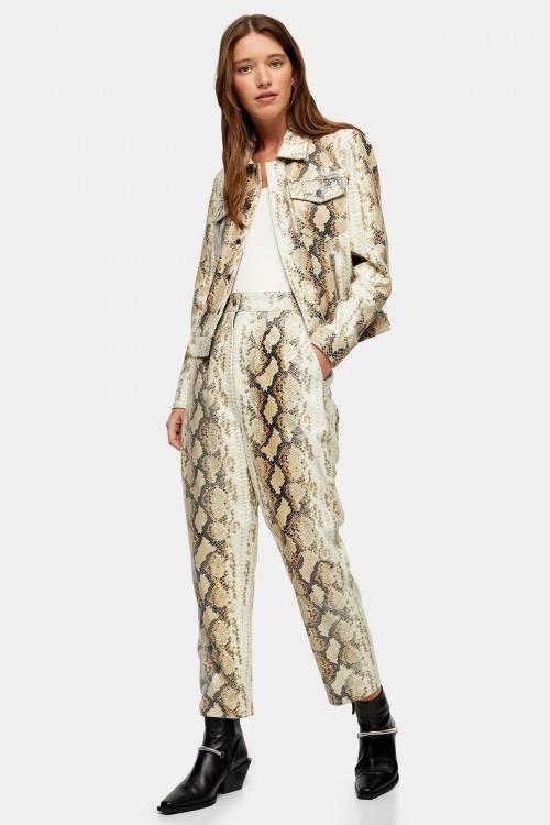 Topshop - Pantalon en cuir