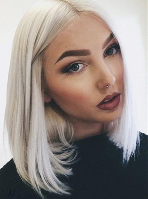 Wigsbuy - Perruque blonde platine