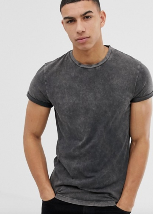 Asos Design - T-shirt gris
