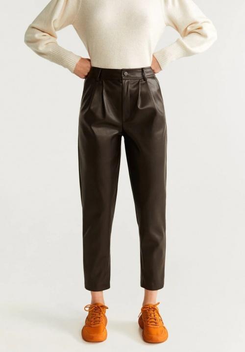Mango - Pantalon en simili cuir