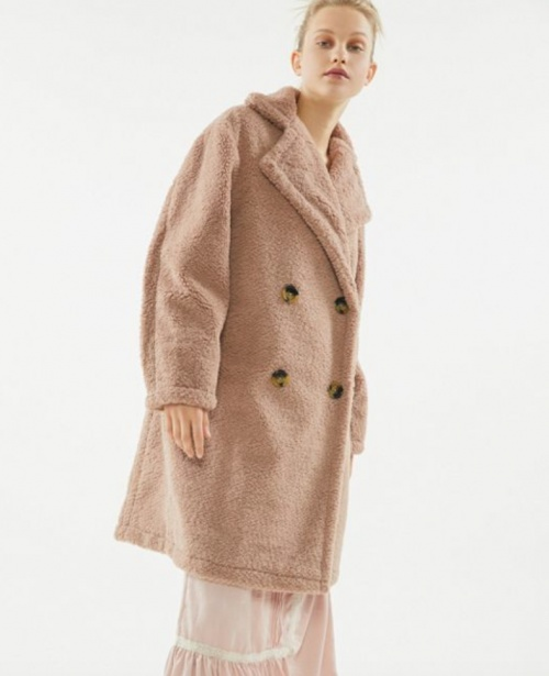 Urban Outfitters - Manteau long teddy