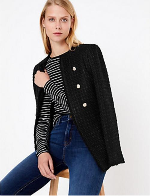 M&S Collection - Blazer en tweed
