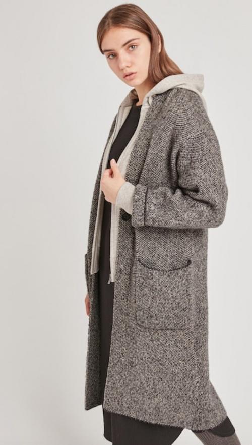 Uniqlo - Manteau en tweed