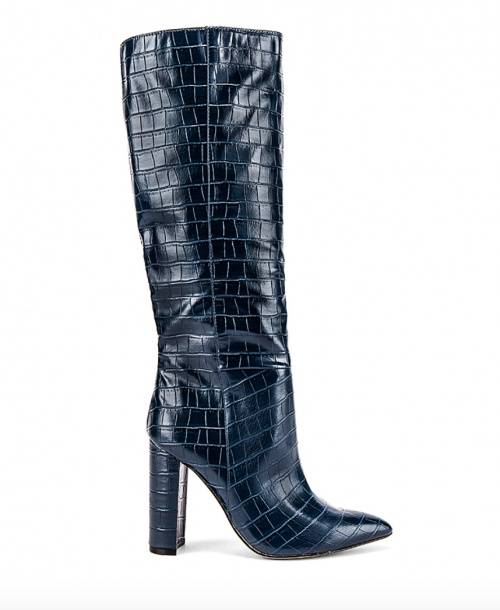Steve Madden - Bottes croco bleues