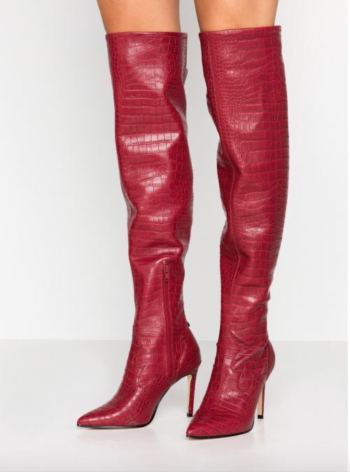 Guess - Cuissardes rouges croco