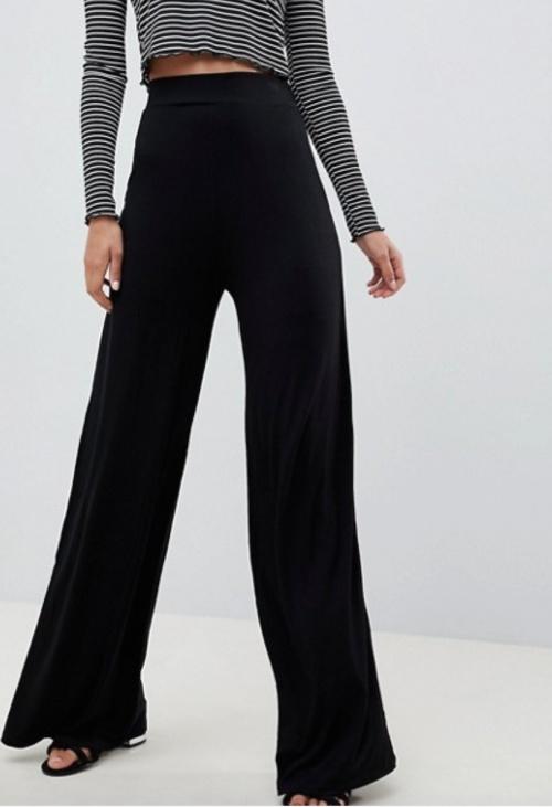 Asos Design - Pantalon large noir