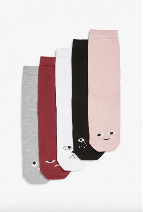 Monki - Pack de 5 paires de chaussettes