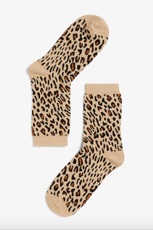 Monki - Chaussettes léopard