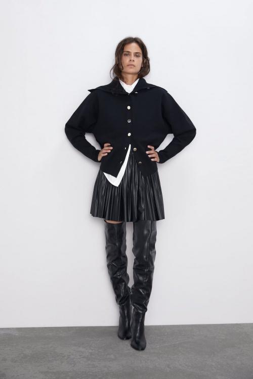 Zara - Jupe en simili cuir