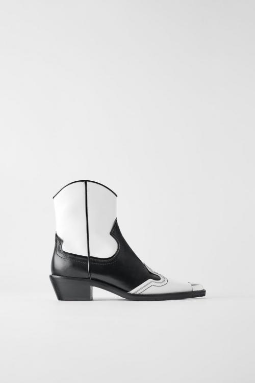 Zara - Boots en cuir