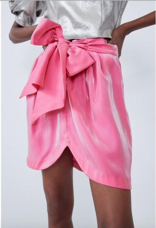 Zara - Mini-jupe rose brillante