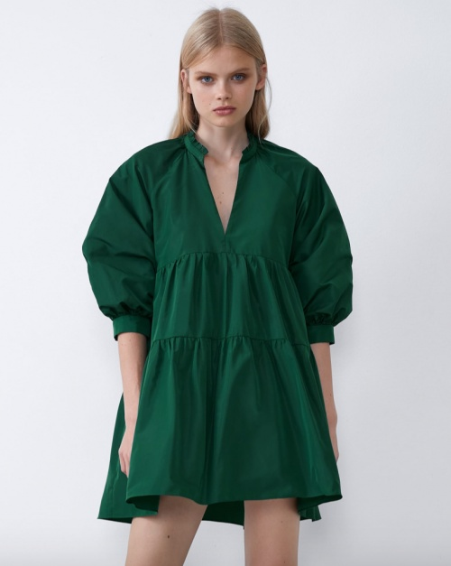 Zara - Robe ample vert sapin