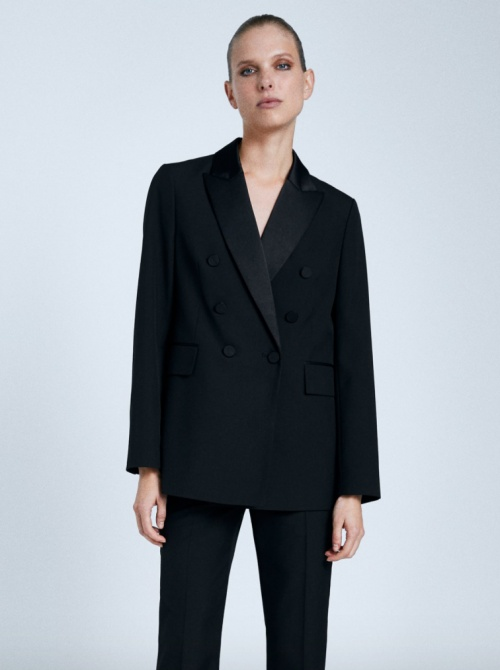 Zara - Veste tailleur contrastée