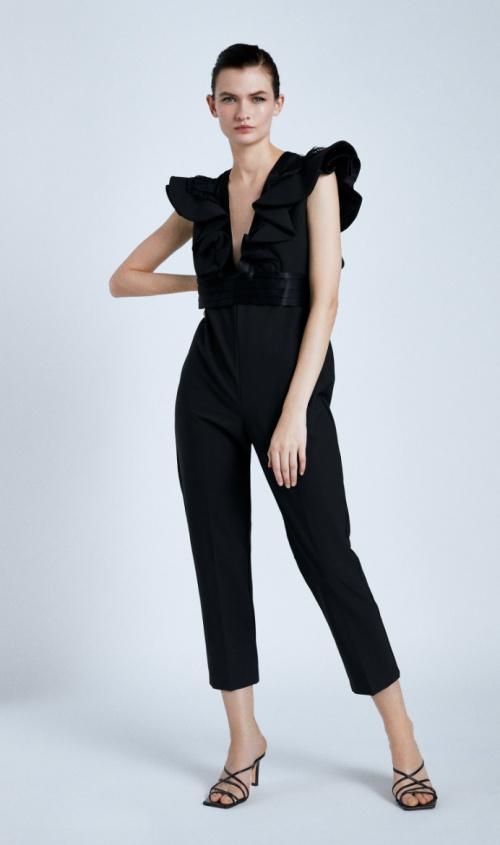 Zara - Combinaison avec manches à volants