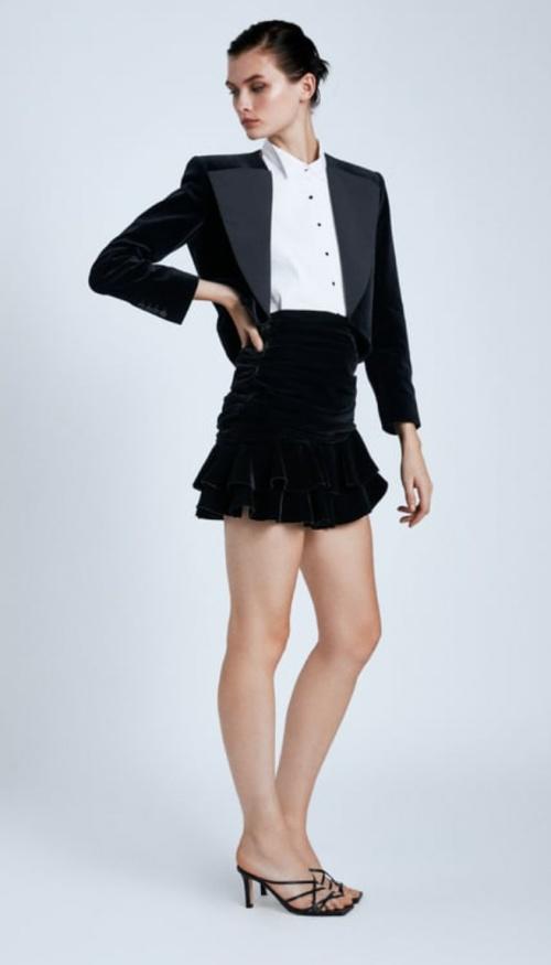 Zara - Mini-jupe en velours