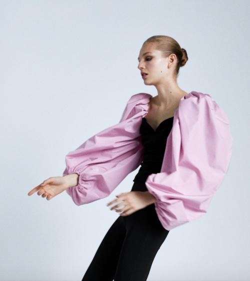 Zara - Top en velours