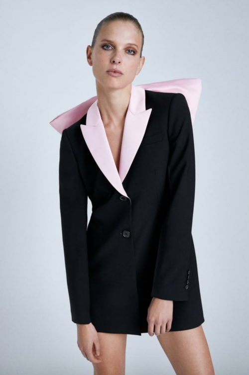 Zara - Robe veste à noeud