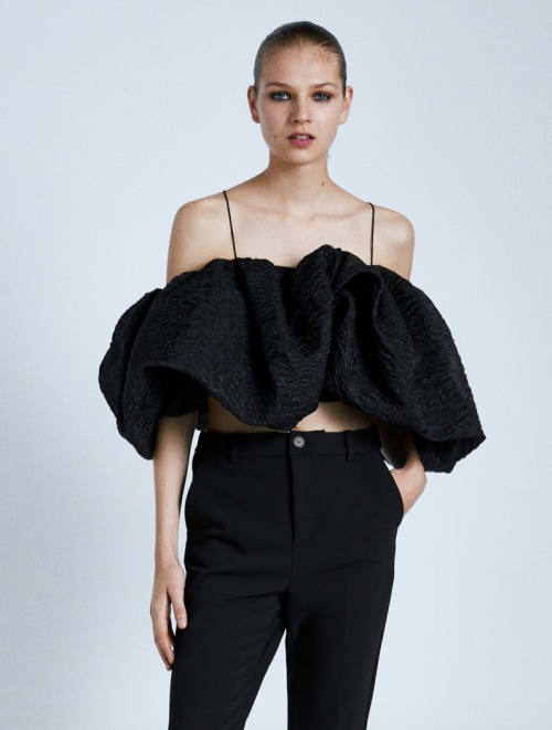 Zara - Top court à volume