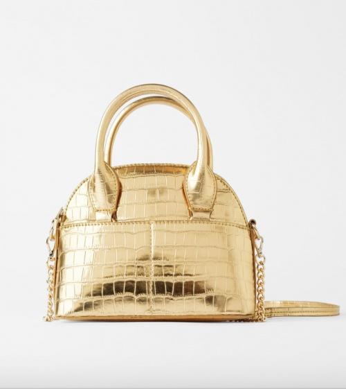 Zara - Sac bandoulière doré