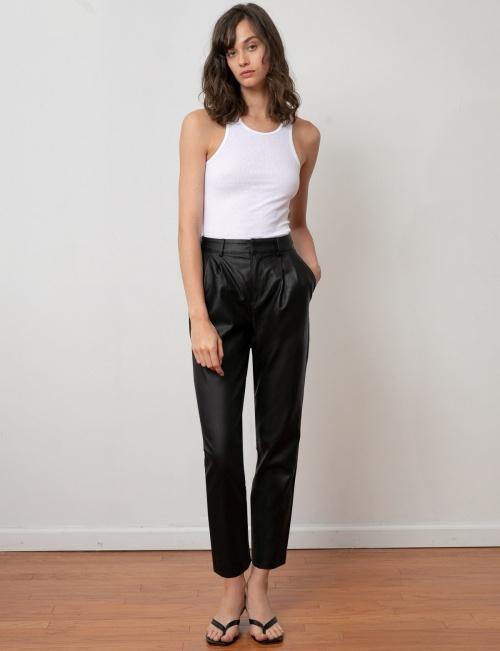 Pixie Market - Pantalon en cuir vegan
