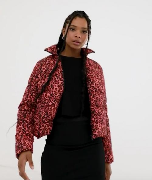 Noisy May - Doudoune léopard