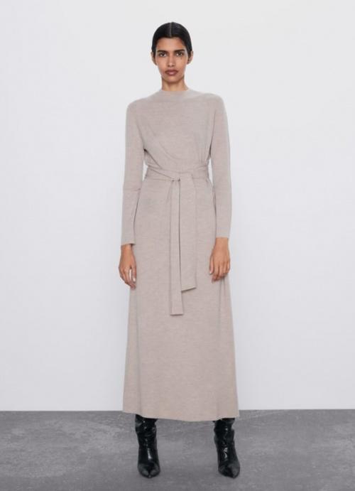 Zara - Robe longue à nouer