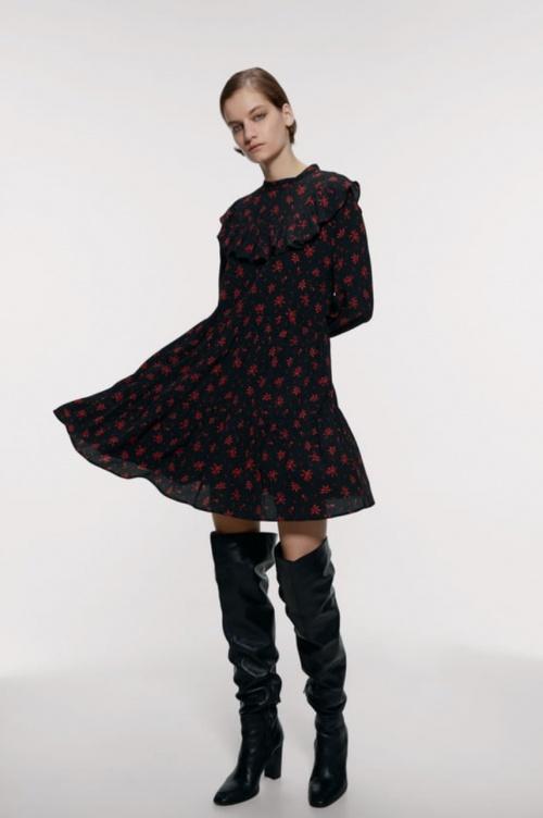 Zara - Robe imprimée à volants