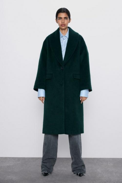 Zara - Manteau à col tailleur