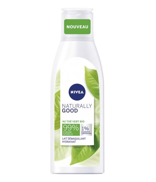 Nivea naturally good - Lait démaquillant visage thé vert bio