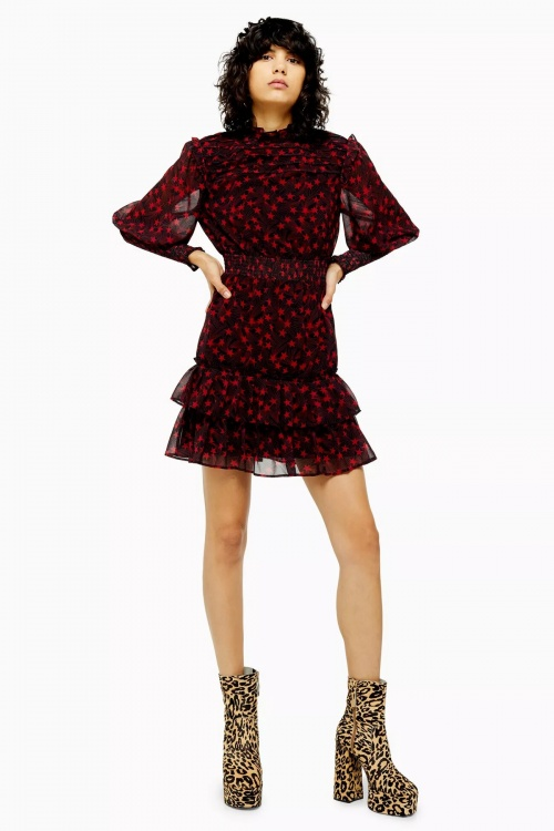 Topshop - Mini robe froncée