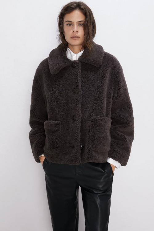 Zara - Manteau en fausse fourrure