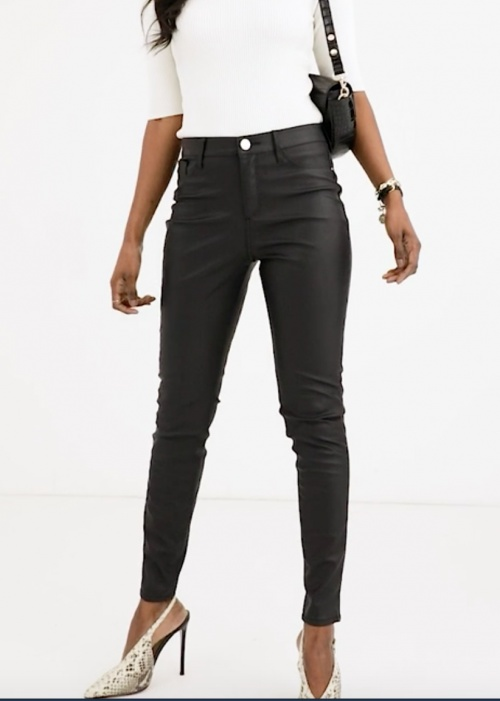 River Island - Pantalon simili cuir
