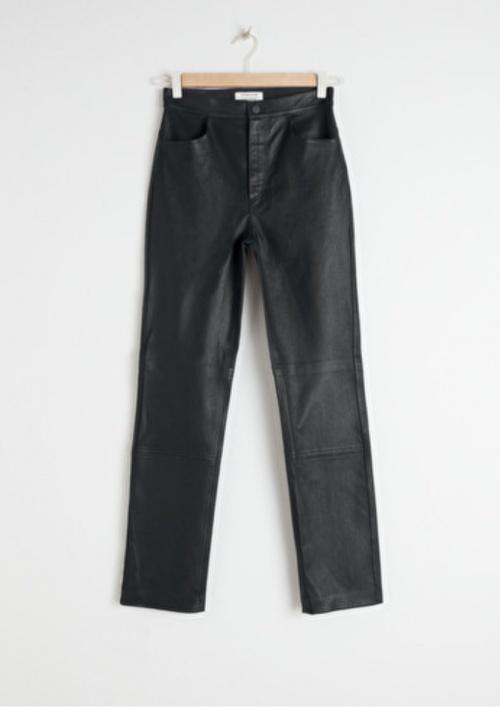 & Other Stories - Pantalon simili cuir