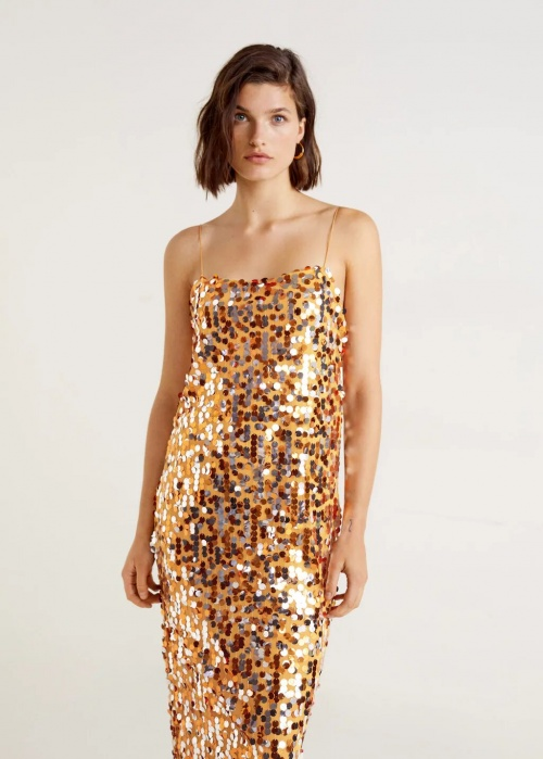 Mango - Robe à sequins