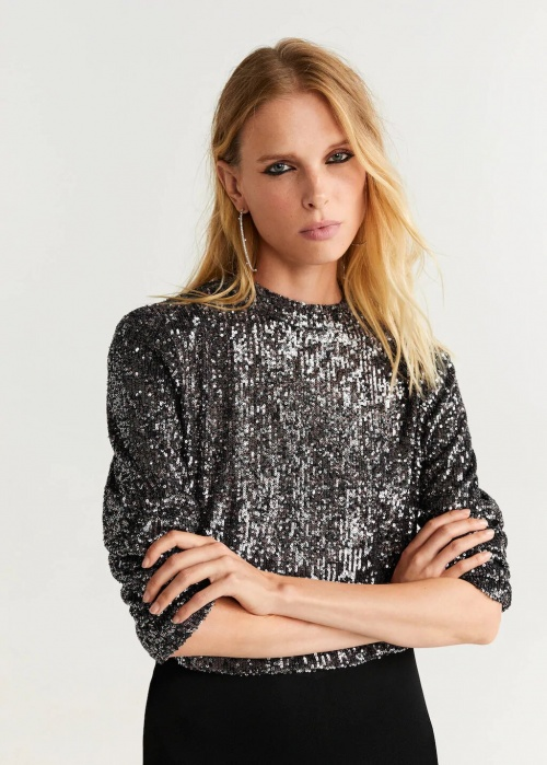 Mango - Top à sequins